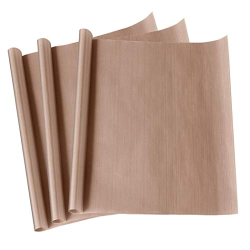 """3 Pack 16 x 20"""" PTFE Teflon Sheet for Heat Press Transfer Non Stick Paper Reusable Heat Resistant Craft Mat,Protects Iron,for Heat Press Machines"""