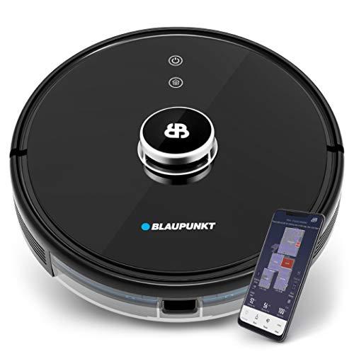 Blaupunkt Bluebot Xtreme - Laser - Saugroboter mit Wischfunktion, intelligente Navigation, 360° Radarlaser - App + Sprachsteuerung, interaktive Karten für Etagen + NO-GO-Zonen – Innovation 2021