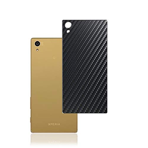 Vaxson 2 Unidades Protector de pantalla Posterior, compatible con Sony Xperia Z5 SO-01H / SOV32 / 501SO, Película Protectora Espalda Skin Cover - Fibra de Carbono Negro