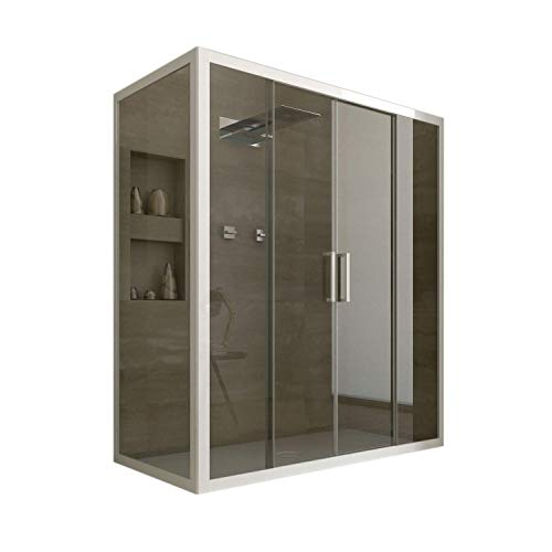 F&T Cabine Douche en PVC 90x140 CM H190 Transparent...