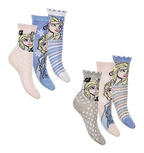 6 Paar Die Eiskönigin Frozen Mädchen Socken Kinder Strümpfe 31-34 / mehrfar