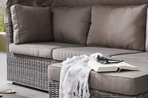 Destiny Lounge Loungegruppe Bahia Sitzgruppe Sofaset Faltdach Polyrattan - 7
