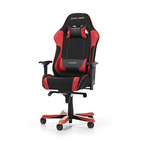 DXRacer King Series K11-NR Gaming Stuhl aus Stoffbezug, Schwarz-Rot