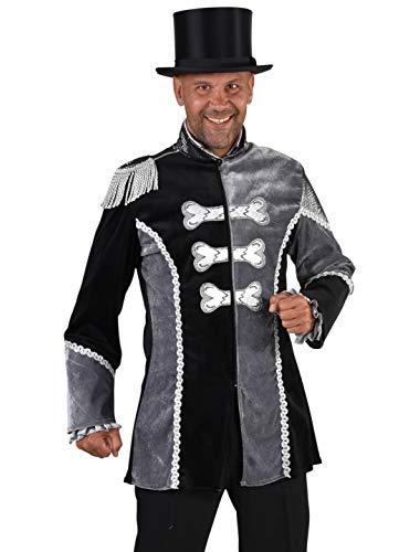 MAGIC BY FREDDYS Abrigo de hueso para hombre, negro/gris, talla XL