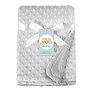 Manta para bebés recién nacidos y envoltura térmica Manta de felpa suave edredón de cama gris talla única
