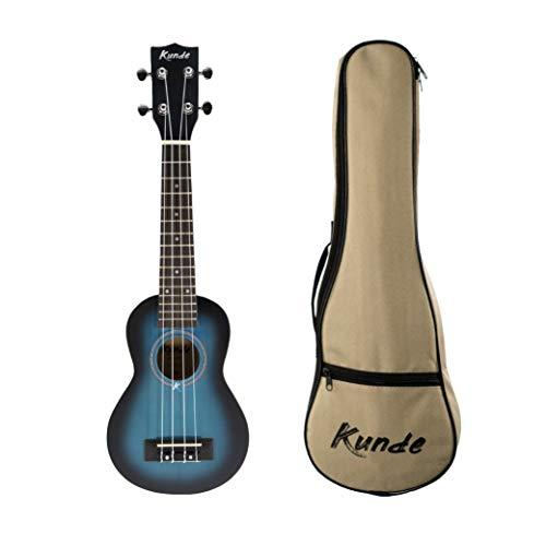 Ukelele Kunde Mercury (Soprano). Ideal para principiantes. Fabricado con madera de Tilo de alta calidad. Funda y cuerdas Aquila incluido. (Azul Turquesa)