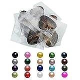 Ostras redondas de agua dulce reales con perla interior de concha perlas de regalo para mujeres de 7 a 8 mm/15 unidades