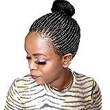 Pelucas trenzadas negras 14inch africano trenzado peluca afro trenzas pelucas sintéticas totalmente atadas a mano twist trenzado pelucas