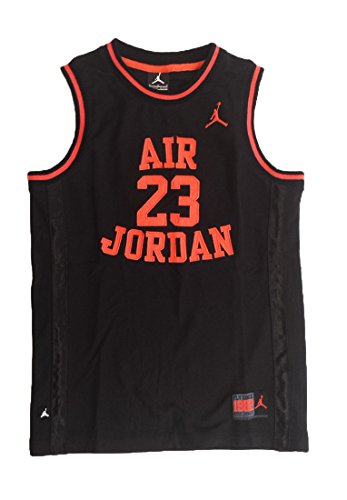 Nike Air Jordan Little Boys' 23 Basketball Classic Mesh Sleeveless Jersey (Black/Infrared, 7)