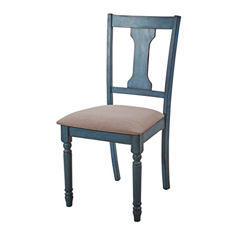 Powell Furniture Willow, Teal Blue, Set of 2 Side Chair,