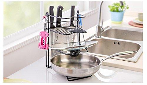 NYDZDM Utensilios de Cocina ollas torreta de estanterías Utensilios de Cocina bastidores de Almacenamiento de múltiples Capas de palets Estanterías Quilt bastidores portaequipajes ⭐