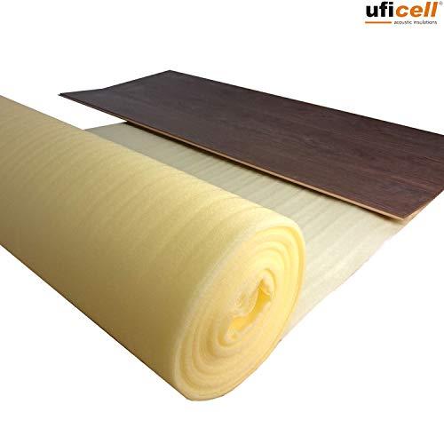 Trittschalldämmung uficell PE-Leicht - Stärke 3 mm - Trittschalldämmung für Laminat und Parkettböden - Dichte: ca. 25 kg/m³ - Trittschallverbesserung ca. 17 dB(A) - (Stärke: 3 mm, 25 m²)