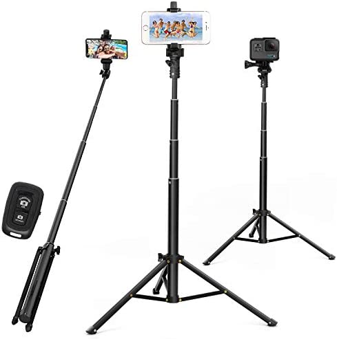 Selfie Stick Tripod 52 Inch Cell Phone Tripod Stand with Bluetooth Remote Smartphone for Iphone product image
