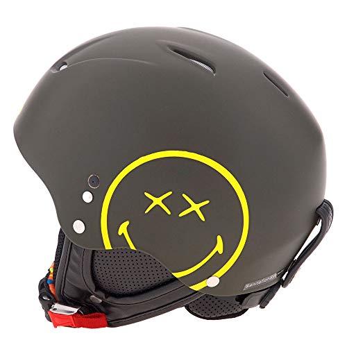 Hmr Helmets Smiley World Helm Unisex Erwachsene, Unisex, 450, Schwarz, 57