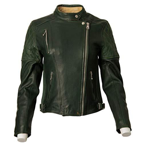 Goldtop Bobber - Chaqueta de moto aprobada por la CE AAA, color verde