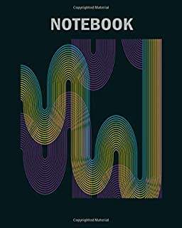 Notebook: abstract waves - 50 sheets, 100 pages - 8 x 10 inches