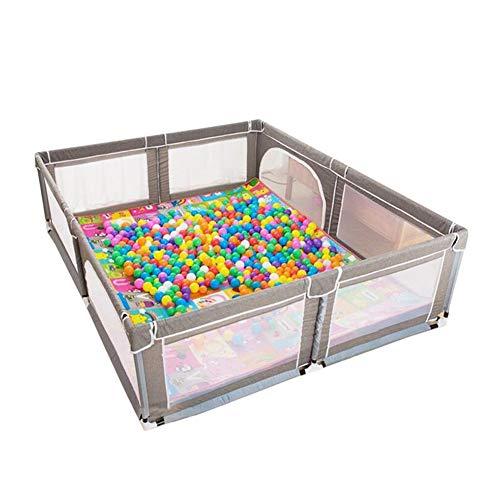 GLJJQMY Parque Infantil for bebés, Patio de Juegos for niños pequeños, Centro de Actividades portátil, área de Juegos for niños, con colchoneta y Pelotas, Gris (Color : 200×250×70cm)