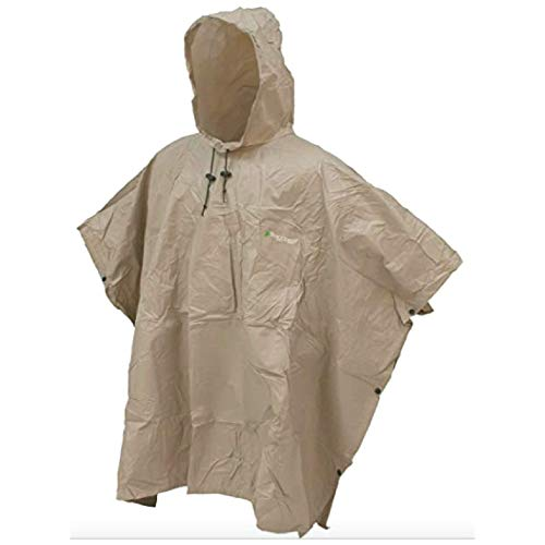 FROGG TOGGS Men's Ultra-Lite2 Waterproof Breathable Poncho, Khaki, One Size