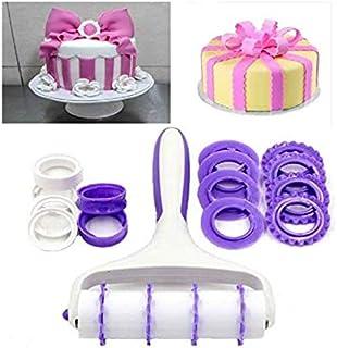 S.Han Fondant Strip Ribbon Cutter Wheels Embosser Baking Cutter Cake Decorating Tools