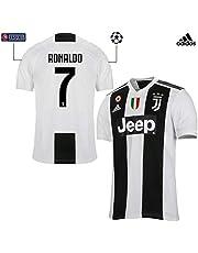 Juventus Maglia Ronaldo Gara Home Ufficiale 2018/19 - Originale - Bambino - Patch Scudetto e Coppa Italia Sempre Incluse