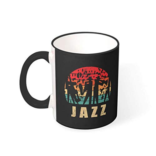 YOUYO Spark Coffee Mug Jazz Smooth Ceramic Personalized Unique - Cups Fits Lounge black 330ml