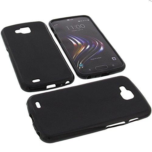 Tasche für LG X Venture Gummi TPU Schutz Handytasche schwarz