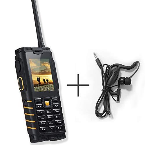 L&Z T2 Walkie-Talkie + teléfono móvil para Personas Mayores Teléfono móvil al Aire Libre de 2.4 Pulgadas IP68 Impermeable móvil Fuerte señal Linterna Espera Largo