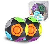 12-Hole Rainbow Puzzle Ball Color-Matching Puzzle Game Fidget Toy Stress Reliever Magic Ball Brain Teaser for Kids and Adults,Gift for Children, Boy, Girl (2HEI)