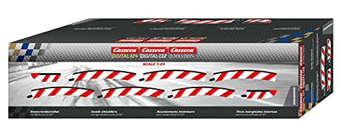 Carrera - rail et accessoire pour circuit - 20595 - 1/24 - Carrera ExclusiV -Carrera EvolutioN - Bordures intérieures pour les virages relevés 3/30° (6), embouts (2)
