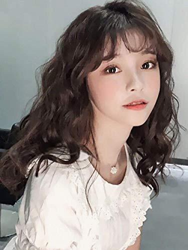 BGHJUE Wig female long hair natural full headgear can be tied in long hair wool roll corn long curly hair