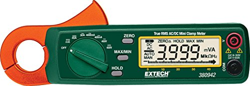 Extech 380942 30 Ampere True RMS AC/DC Mini Clamp on Meter -