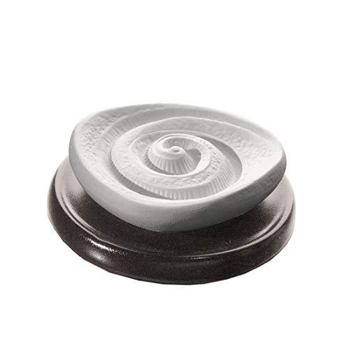 PRIMAVERA Duftstein Energiespirale auf Keramikteller schwarz - Raumduft, Diffusor - Aromatherapie
