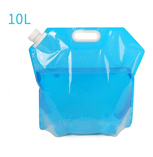 YMYGBH Bolsas de Agua al Aire Libre Plegable portátil de Bebida cocinar del Campo de contenedores de Picnic Barbacoa Agua Bolsa Transportador de automóviles 5L / 10L Tanque de Agua (Color : Blue)