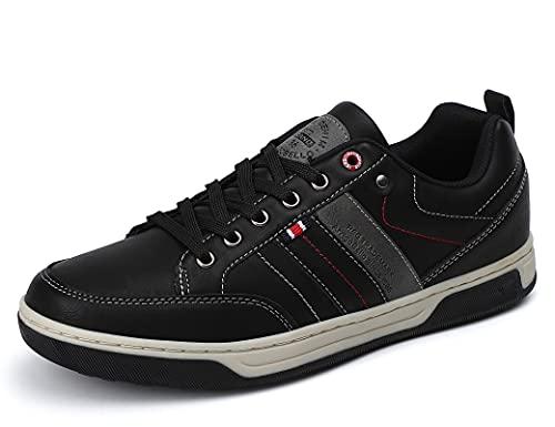 ARRIGO BELLO Zapatos Hombre para Vestir Casual Zapatillas Deportivas Sneakers Confort Jogging Transpirables Sneaker Talla 41-46 (Negro, Numeric 43)