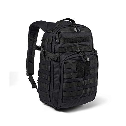 5.11 Tactical Backpack – Rush 12 2.0 – Military Molle Pack, CCW and Laptop Compartment, 24 Liter, Small, Style 56561 – Black