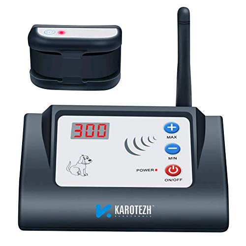 KAROTEZH Wireless Dog Fence for Pet, Electric Dog Fence Containment System with Adjustable, Rechargeable, Waterproof Training Collar & Stable Signal for Indoor Outdoor