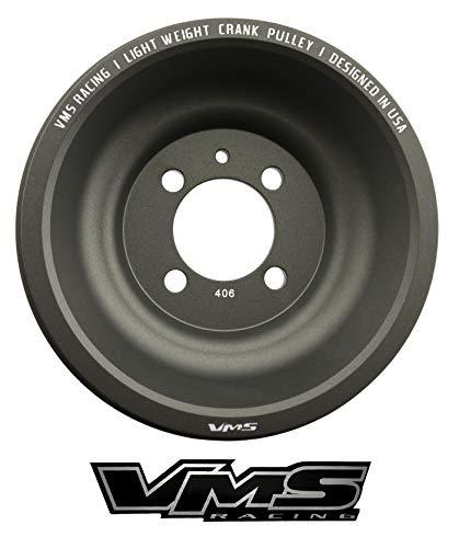 VMS RACING 90-99 Light Weight Billet Aluminum Crankshaft CRANK PULLEY Compatible with Mitsubishi Eclipse Eagle Talon 1990-1999 4G63 Engines ONLY OEM SIZE (uses same belts)