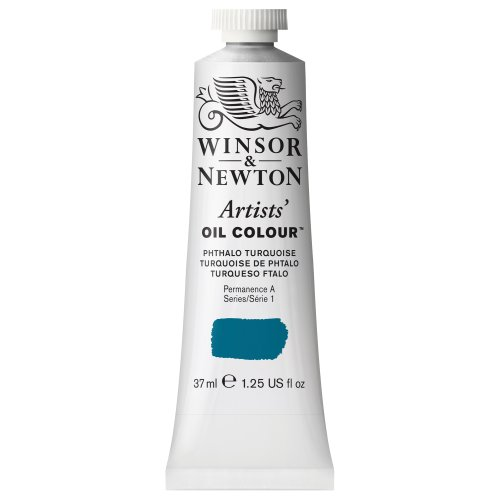 Winsor & Newton 1214526, Phthalo Turquoise Artists' Oil Colour Paint, 37ml Tube, 37-ml