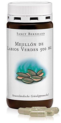 Mejillón de labios verdes 500mg, de Nueva Zelanda - 150 Cápsulas