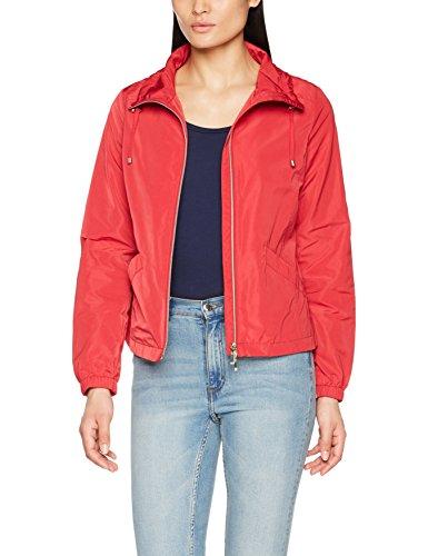 Geox Woman Jacket Jacke mit abnehmbarem Kragen Giacca, Rosso (Crimson Red F7162), 52 Donna