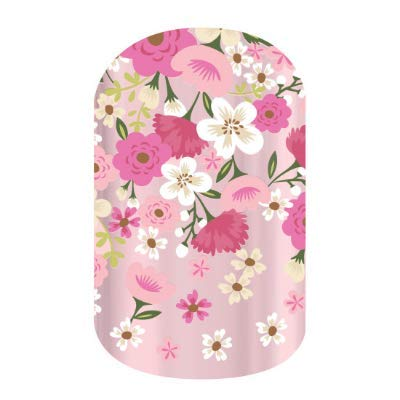 Floral Fusion - Jamberry Nail Wraps - Stickers for DIY Easy Nail Art