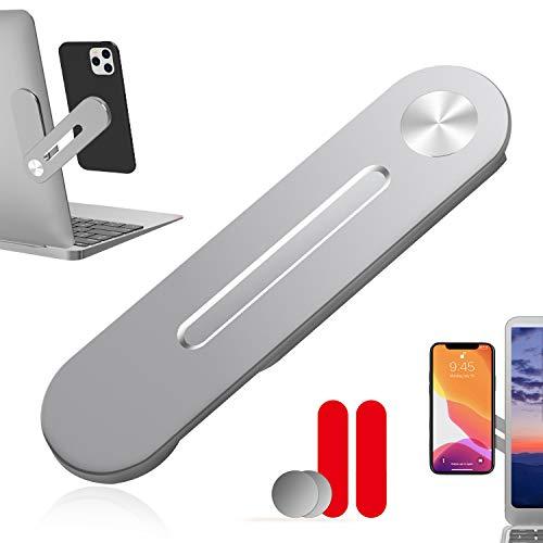 sinzau Handy Ständer, Foldable Magnetadsorption Handy Halter für Phone, Laptop-Erweiterung, Mit 2 Klebeband & 2 Metallplatte