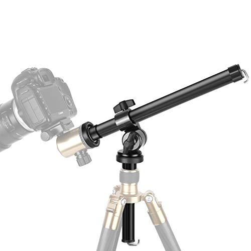 Neewer Camera Tripod Boom Arm: External Multi-Angle Center Column Extension Arm for Studio Outdoor Macro Over Head Shooting (32cm Length, 5kg Load Capacity, 25mm Tube Diameter, Ball Head Not Included