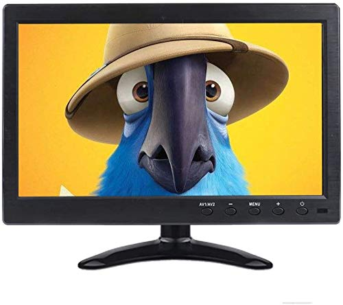 Prechen Tragbarer Monitor 10,1 Zoll Monitor HD 1366x768 LCD/CCTV mit HDMI VGA AV BNC Anschluss, PC Monitor Dünn und leicht Schwarze Metallschale Eingebauter Lautsprecher, USB Powered
