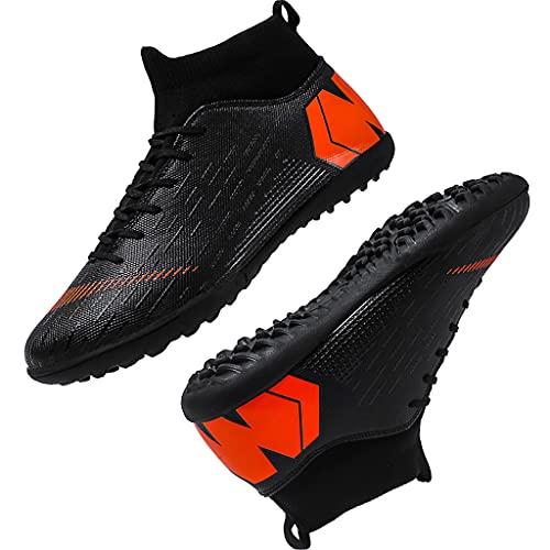 YUHAI Zapatos de fútbol de Alto Nivel de fútbol para Hombres, Botas de fútbol Profesional, Entrenadores Adolescentes, Zapatos de fútbol para Exteriores/de Interior, White Long Nails-37