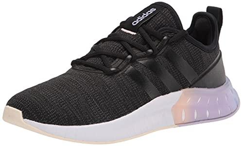 adidas Women's Kaptir Super Running Shoe, Black/Black/Carbon, 8