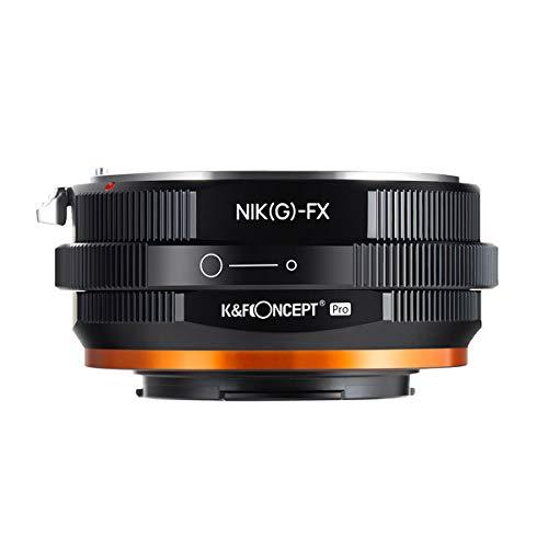 K&F Concept レンズマウントアダプター Pシリーズ KF-NGX.P (ニコンFマウント(Gタイプ対応)レンズ → 富士フイルムXマウント変換) 絞りリング付き