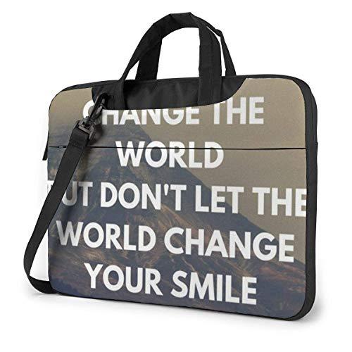 Let Your Smile Change The World Laptop Bag 14 Inch Shoulder Messenger Bag Computer Tote Briefcase for Work School