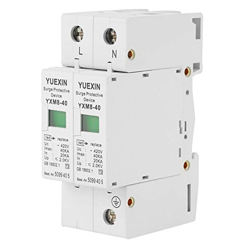 Whole House Surge Protector for DC 420V 40KA,Low-voltage Arrester Device,Protect Electric System and on-Loading Electrical Apparatus from Thunder and Instantaneous over-Voltage