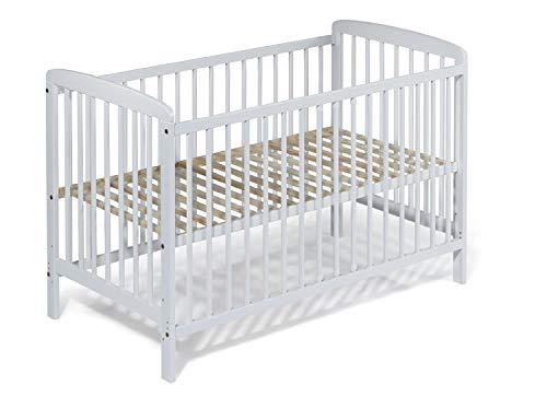 KOKO Babybett Kinderbett Gitterbett Beistellbett JULIA weiss inkl. Matratze